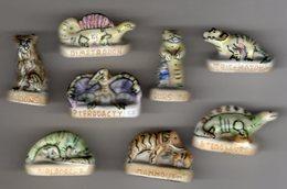 Série Complète 8 Fèves Brillantes ANIMAUX PREHISTORIQUES Aria-nordia 1994 DINOSAURES - Animals
