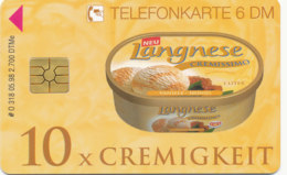 GERMANY Telefonkarte O 318 98 Langnese Cremissimo- Auflage 2700 - Siehe Scan - 15517 - Alemania