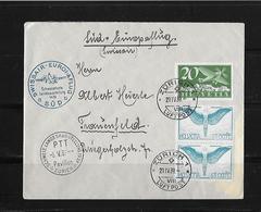 1939 SWISSAIR - EUROPAFLUG SÜD →Schw.Landesausstellung 1939 - Poste Aérienne