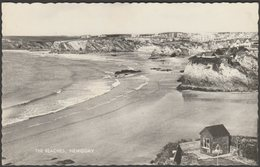The Beaches, Newquay, Cornwall, C.1950s - Valentine's RP Postcard - Newquay