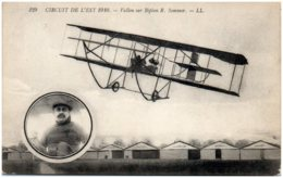 CIRCUIT DE L'EST 1910 - Vallon Sur Biplan R. Sommer - Aviateurs