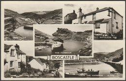 Multiview, Boscastle, Cornwall, 1957 - Valentine's RP Postcard - England