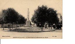 EZANVILLE LE ROND POINT ET LE MONUMENT AUX MORTS - Ezanville