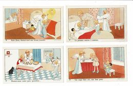 12 Images Religieuses GOUPPY La Journée D'une Gentille Petite Fille ANGE Angelots - Devotieprenten