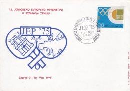 Yugoslavia FDC 1975 Table Tennis Juniors (G88-55) - Tischtennis