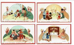 10 Images Religieuses GOUPPY Les 10 Commandements Aux Enfants Jeux ANGE Angelots Démon Diable - Devotieprenten