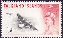 Falkland-Inseln - Dominikanische Möwe (Larus Dominicanus) (MiNr. 124) 1960 - Mit Falzspur - Falkland