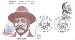 Env Fdc France N°2251 Paris, 18/12/82, Léon Blum, Front Populaire - FDC