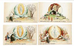 10 Images Religieuses GOUPPY Lourdes BERNADETTE SOUBIROU Grotte Moutons Vierge Anges - Devotieprenten