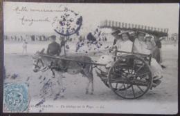 France - CPA Malo-Les-Bains - Un Attelage Sur La Plage - Carte Précurseur Animée, Circulée En 1904 - Malo Les Bains