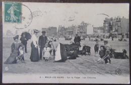 France - CPA Malo-Les-Bains - Sur La Plage - Les Chèvres - Carte Très Animée, Circulée En 1910 - Malo Les Bains