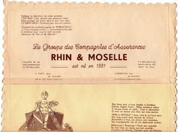 Pochette De Serviette Offerte Par Le Groupe Des Compagnies D'Assurances Rhin & Moselle  2 Sites Paris Et Strasbourg - Autres