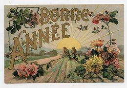 Art Nouveau . BONNE ANNÉE . Oiseaux . HAPPY NEW YEAR Birds - Oiseaux