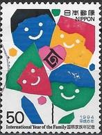JAPAN 1994 International Year Of The Family. Winning Entries In Stamp Design - 50y - Happiness Flower (Shigenobu Naga FU - 1989-... Empereur Akihito (Ere Heisei)