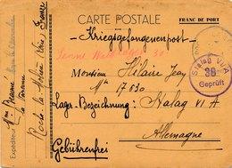 Carte Prisonnier Stalag VI A Senne-Wald Lager 30 Bezeichnung - 2. Weltkrieg 1939-1945