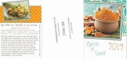 Vieux Papiers - Calendriers De Poche - Petit Format 2019 - Pharmacie - Voir Recto, Verso - Recettes De Cuisine - - Calendriers