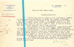 Brief Lettre - Notaris Van Hemelryck Dendermonde Naar Kadaster Gent - 1923 - Met Brief Antwoord - Non Classés