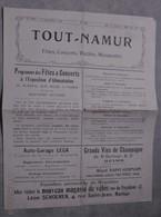 TOUT NAMUR. 1906. - Programmes