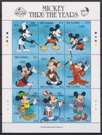 2451  -  The GAMBIA - Disney - 1989 - Minnie Door De Jaren Heen - 60 St Verjaardag Van Mickey. - Disney