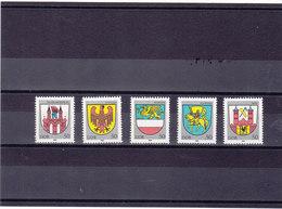 RDA 1985 ARMOIRIES Yvert 2559-2563 NEUF** MNH - [6] République Démocratique
