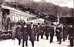 Dernier Voyage De S. M. Le Roi Léopold II Sur La Côte D'azur - L'arrivée à Beaulieu - Carte Très Animée - Cartes Postales