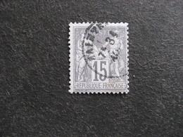 C). N° 77, Oblitéré. 1° Choix. - 1876-1898 Sage (Type II)