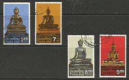 Thailand - 1984 Buddha Sculptures Used   Sc 1065-8 - Thailand