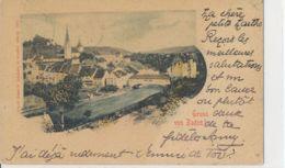 Baden - Aare Litho + 1899 3 Löchli - AG Argovie