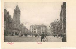 Basel - Markt - Fotokarte Ca. 1900 - BS Bâle-Ville