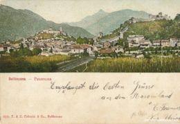 Bellinzona - Panorama Gotthardbahn + 1907 - TI Tessin