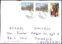 Mailed Cover With Stamps Comics Karaoglan 2006 From Turkey To  Bulgaria - 1921-... République