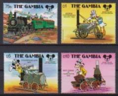 2452 A  -  The GAMBIA - Disney - 1987 - 60 St Verjaardag Van Mickey - Trein En Locomotieve . - Disney