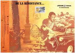 Feuillet Spécial CEF De 1994 50ème Anniversaire Du Jour J 1944 De La Résistance à La Libération Oblitération 1er Jour - Guerre Mondiale (Seconde)