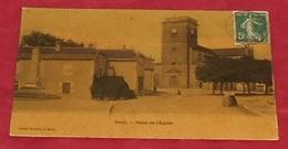 70 - Saulx  - ( Haute Saône ) - Place De L'église ::: Carte Toilée  :::: Animation -------------- 478 - France