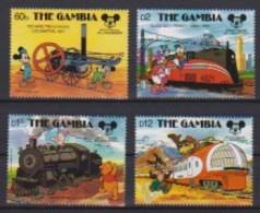 2452 B  -  The GAMBIA - Disney - 1987 - 60 St Verjaardag Van Mickey - Trein En Locomotieve . - Disney