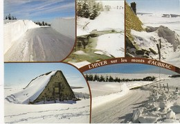 MONTS D'AUBRAC: L'hiver Vaste Plateau,ou Se Multiplient Les Pistes De Ski De Fond - Non Classés
