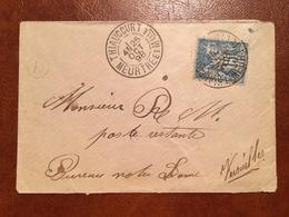 France - Lettre De Thiaucourt Pour Versailles (en Poste Restante) - Cachet De Facteur D - (B1162) - Marcophilie (Lettres)