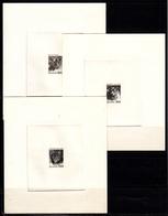 ISLANDE - N° 533/535 - CHAT - VACHE - BELIER - SERIE EN EPREUVES D'ARTISTE NOIRES. - 1944-... Republik