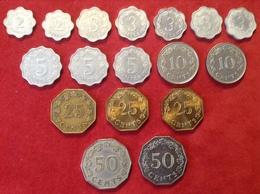 Münzenlot Malta 17 Münzen 2 Mils Bis 50 Cents 1972 Bis 1975 - Malta