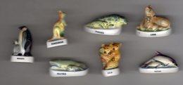 RARE Série 7/10 Fèves Brillantes ANIMAUX ET LEURS PETITS I - Prime 1997 - Animals