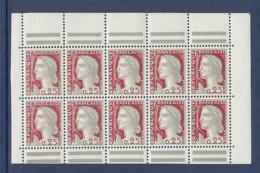 N° 1263d X 5 MARIANNE DECARIS BLOC DE CARNET AVEC BARRES ** - 1960 Marianne De Decaris