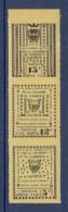 GREVE DE SAUMUR N° 4/6 MAURY ** - Strike Stamps