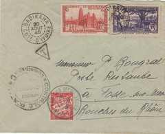 Cote D'Ivoire:  Lettre  Par  Avion Badikaha  1940 - Côte-d'Ivoire (1892-1944)