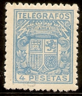ESPAÑA Telégrafos  Edifil 74* Mh 50 Ctos. Carmín  Escudo España  1932/33  NL805 - Telegrafen