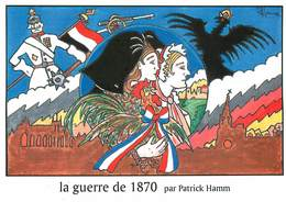 Illustrateur Hamm - Enghien Les Bains -L'histoire De France-La Guerre De 1870 - Militaria Guillaume 2 -Autographe -Signé - Hamm
