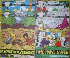 4 Strips Nr. 32 In Pimpeltjesland - 37 De Schat Van De Zeerover - 41 Twee Halve Lappen - 42 De Witte Bolhoed - Jommeke