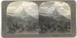 Photo Stéréoscopique - Matterhorn, Riffelburg Hotel, Suisse - Photos Stéréoscopiques