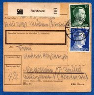Allemagne -  Colis Postal  - Hersbruck  --  Pour Spittel - - Allemagne
