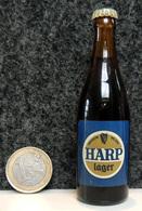 Mignonnettes - IRLANDE Bière HARP Lager - Bouteille Miniature 8.5cm (en Verre + Capsule Métal) - Miniatures