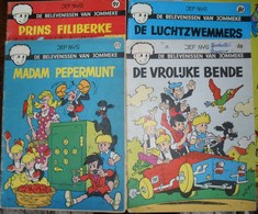4 Strips Nr. 63 Madam Perpermunt - 66 De Vrolijke Bende - 81 De Luchtzwemmers - 91 Prins Filiberke - Jommeke